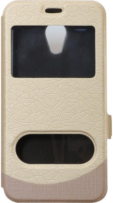 Чехол-книжка Meizu M5C gold Window