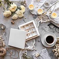 Коробка для текстиля белая / упаковка 10 шт