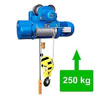 Таль электрическая тросовая с электрической тележкой CD1-0.25 (250 кг)