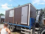 Бытовка строительная 6х2,30 м (внутри деревянная вагонка), фото 6