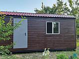 Бытовка строительная 6х2,30 м (внутри деревянная вагонка), фото 7