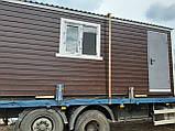 Бытовка строительная 6х2,30 м (внутри деревянная вагонка), фото 8
