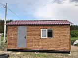 Бытовка строительная 6х2,30 м (внутри деревянная вагонка), фото 9
