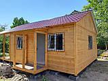 Бытовка строительная 6х2,30 м (внутри деревянная вагонка), фото 10