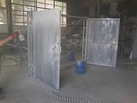 Ворота гаражные 2,5х3,0 м металл 2,0 мм в двойной рамке