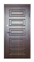 Входные металлические двери Модель М-2 ( МДФ + МДФ) орех тёмный  850*2040 левая