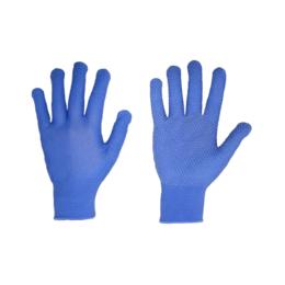 """Перчатки SG - 121 """"Микроточка синяя"""" нейлоновые трикотажные"""
