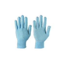 """Перчатки SG - 122 """"Микроточка голубая"""" нейлоновые трикотажные"""