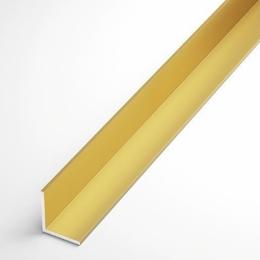 Угол алюминиевый золотой 15*15 (3 метра)