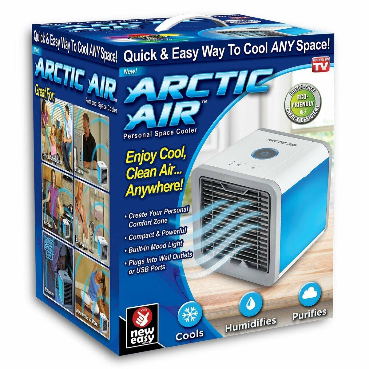 Портативный мини кондиционер Arctic Air5В, 2А, 10Вт, с фильтром Арктик эир