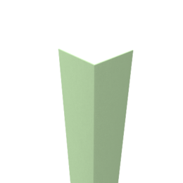 Угол декоративный пластиковый  20х20 шт  салатовый