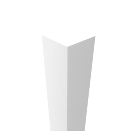 Угол декоративный пластиковый 25х25  шт белый