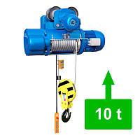 Таль электрическая тросовая с электрической тележкой CD1-10.0 (10 тн)
