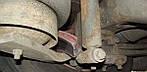 Розбитий гальмівний диск випав з колеса