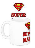 """Чашка с надписью """"Супермама"""""""