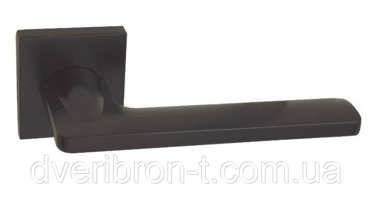 Дверні ручки Rich-Art 322 R64 чорний матовий, матовий нікель.