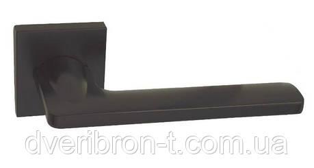 Дверні ручки Rich-Art 322 R64 чорний матовий, матовий нікель., фото 2
