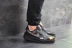 Мужские кроссовки Nike Air Force 1 Just Do It (черные), фото 2