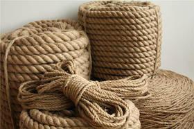 Джутовые канаты и верёвки