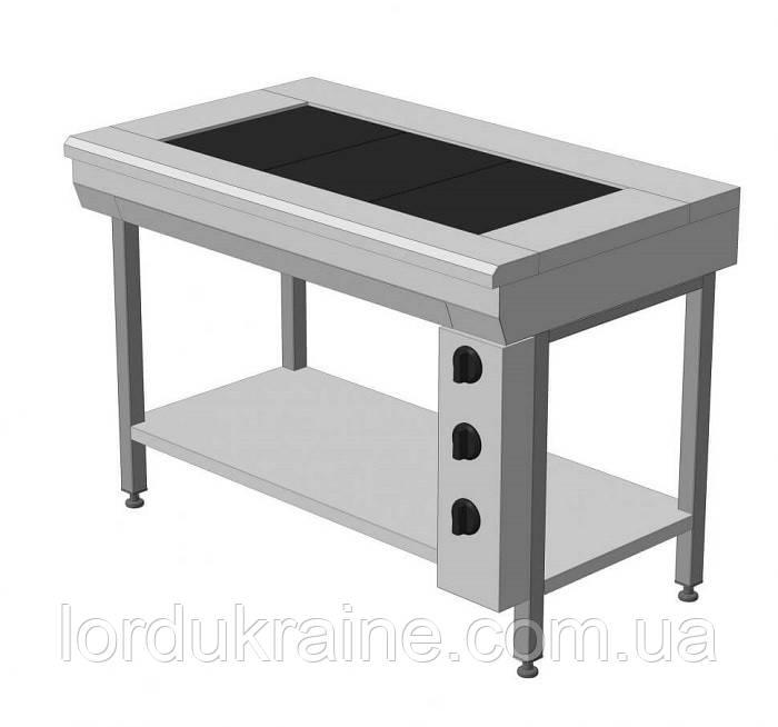 Плита электрическая промышленная без духовки ЭПК-3Б эталон (бюджетный вариант)