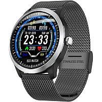 N58 смарт часы тонометр давление крови ЭКГ кардио пульсомер трекер для iPhone и Android фитнес браслет черный