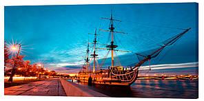 Картина на холсте Декор Карпаты Корабль 50х100 см (1351)