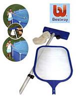Bestway 58013, набор для очистки дна и верхнего слоя воды в бассейнах