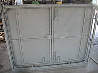 Ворота гаражные 2,5х2,9 м металл 1,2 мм в двойной рамке, фото 1
