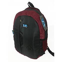 Рюкзак школьный VA R-69-126, черный с бордовым