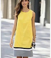 Летнее жёлтое платье