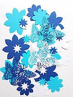 Набор вырубки из картона для творчества бабочки, цветы