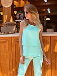 Женский брючный костюм: блуза и брюки (в расцветках), фото 4