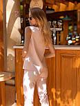 Женский брючный костюм: блуза и брюки (в расцветках), фото 5