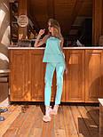 Женский брючный костюм: блуза и брюки (в расцветках), фото 2