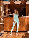 Женский брючный костюм: блуза и брюки (в расцветках), фото 7