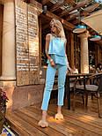 Женский брючный костюм: блуза и брюки (в расцветках), фото 9