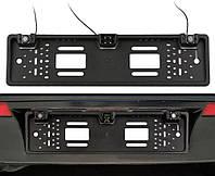 Рамка для номерного знака с камерой заднего вида и парктроником 3 в 1 UKC Black, фото 1