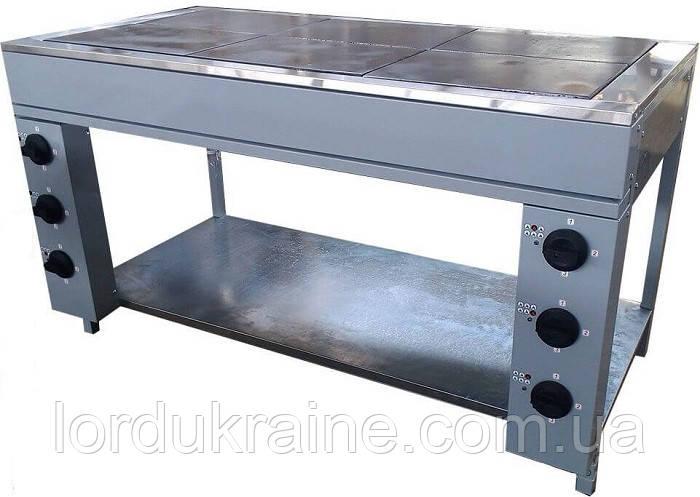 Плита электрическая промышленная без духовки ЭПК-6Б стандарт (бюджетный вариант)