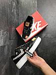 Чоловічі кросівки Nike Air Force 1 Just Do It (чорно-білі), фото 3
