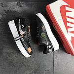 Чоловічі кросівки Nike Air Force 1 Just Do It (чорно-білі), фото 4