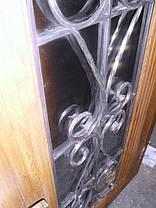 Входная дверь модель П5 347 ПВХ-02 КОВКА, фото 3