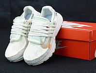 Мужские кроссовки  Off-White x Nike Air Presto  (Реальные фото) Найк  Аир Престо Офф Вайт Белые