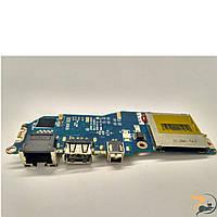 Плата з роз'ємами USB, LAN, SD Card Reader Board для ноутбука Dell Latitude E4200, Ls-4295p, Б/В