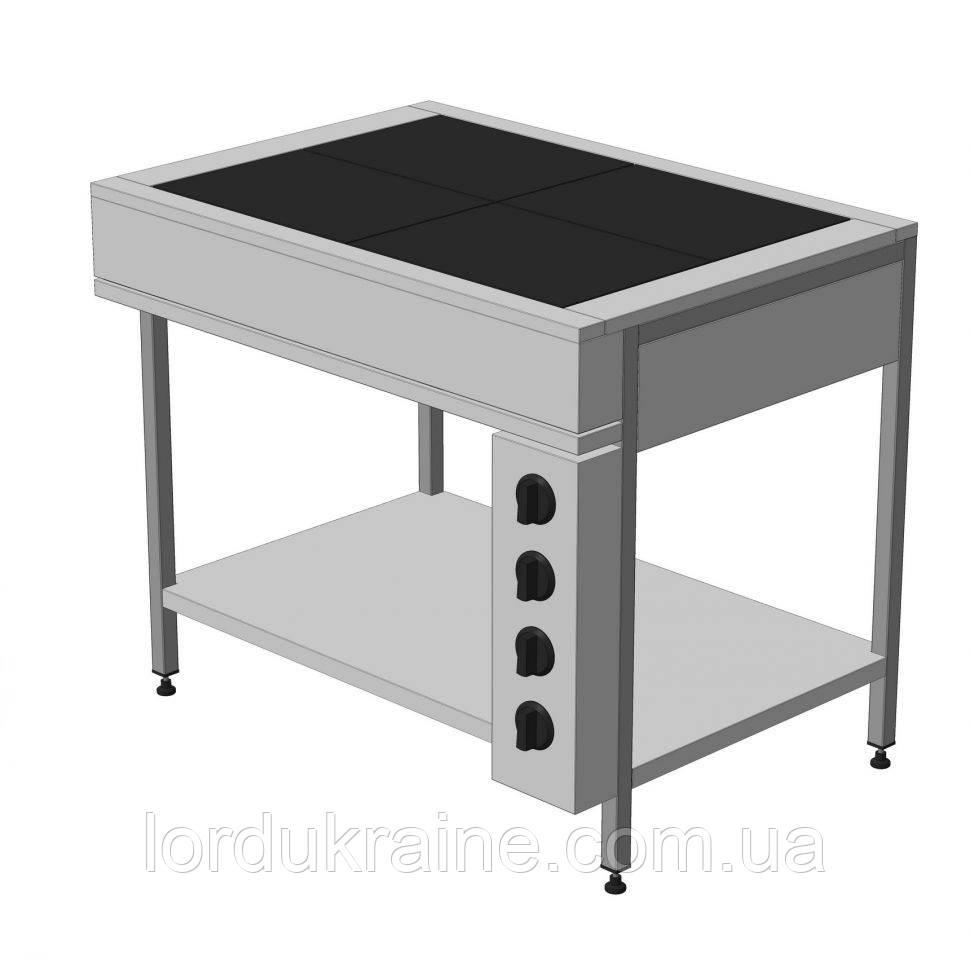 Плита электрическая промышленная без духовки ЭПК-4Б эталон (бюджетный вариант)