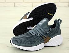 Чоловічі кросівки Adidas Alphabounce Instinct Gray, фото 3