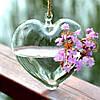 Подвесная стеклянная ваза - Сердце 11 см, фото 2