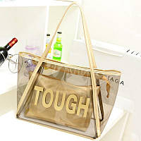 Женская прозрачная пляжная сумка TOUGH золотая