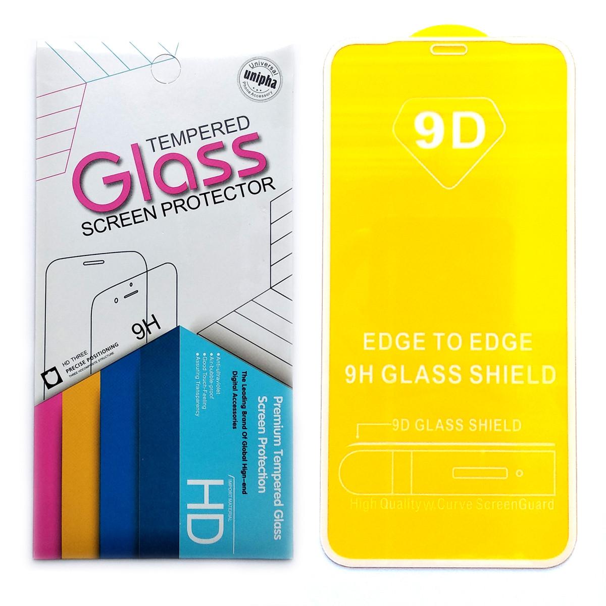 Защитное стекло 9D для Apple iPhone XR (White)
