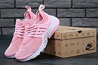 Женские кроссовки  Nike Air Presto Pink Whit  (Реальные фото) Найк  Аир Престо Офф Вайт Розовые
