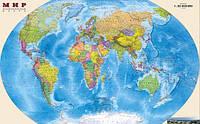 Глянцевые фотообои карта мира  разные текстуры , индивидуальный размер